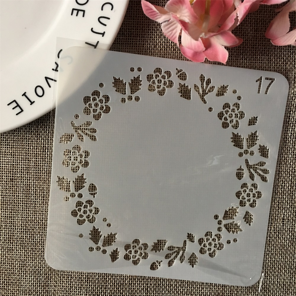 13cm Flower Leaf Garland DIY Layering Stencils Wall Painting Scrapbook Coloring Embossing Album Decorative Card Template