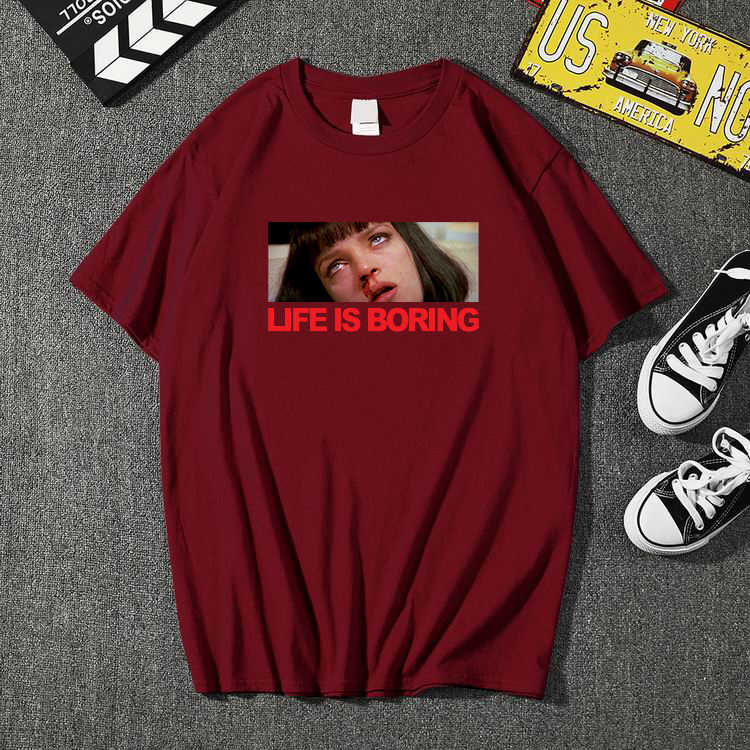 2020 di Nuovo Modo di Vita è Noioso T camicia di Marca di Abbigliamento Hip Hop Lettera 3D Degli Uomini di Stampa di T-shirt A Manica Corta anime di Alta Qualità