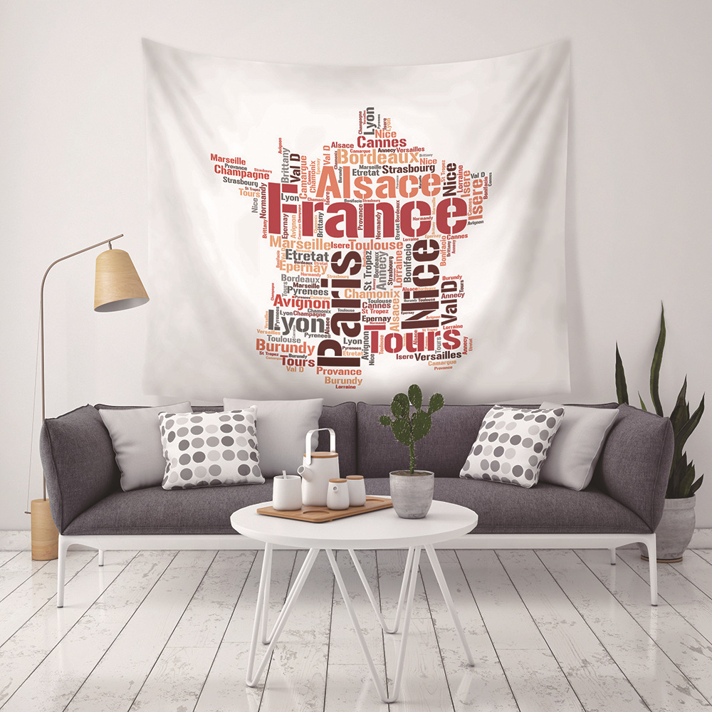 New Personality Foreign Alphabet Map Russian Map Tapestries