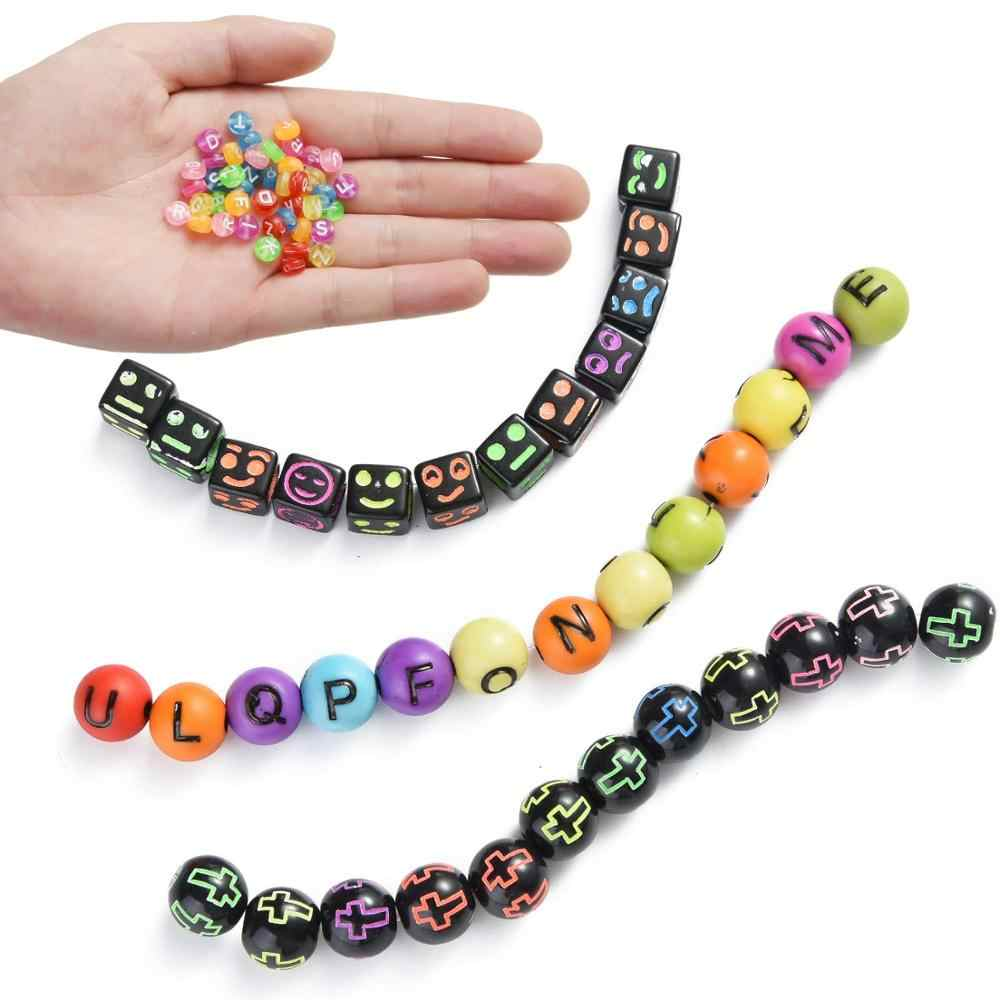 DIY HandyPack Black /& White Alphabet Letter Jewellery Bracelet Beads HP566