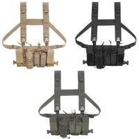 Nylon Adjustable Bullets Storage Bag Outdoor CS Wargame Magazine Clip Vest