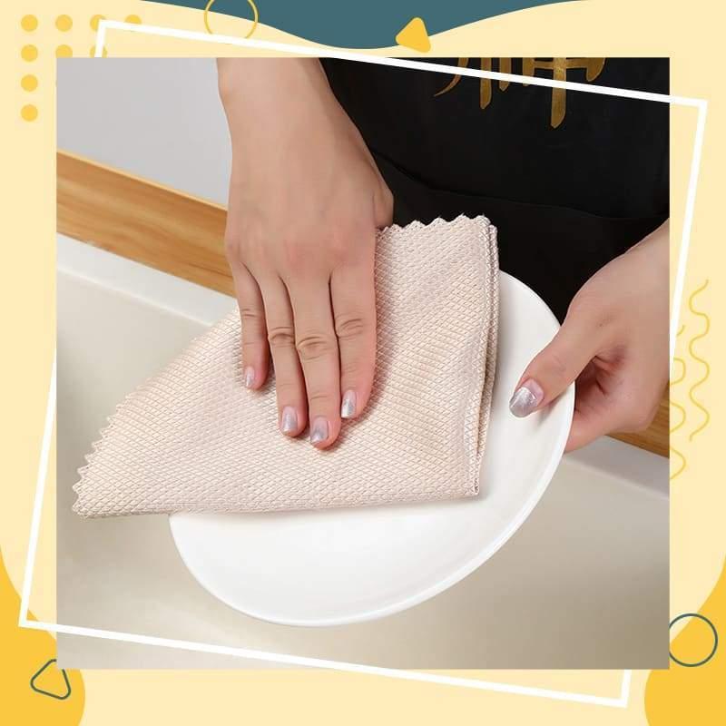K/üchen- Und Haushaltst/ücher Zum Reinigen Von Spiegeln Glas A 5x Fischschuppen-mikrofaser-poliertuch Mikrofaser-Reinigungst/ücher Geschirrt/ücher und Geschirrt/ücher zum Waschen von Geschirr