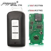 Jingyuqin 3 botões inteligente remoto chave fob fsk 433mhz id46 id47 chip para mitsubishi lancer outlander asx eclipse cruz 7952 7938