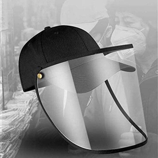 Men Safety Face Shield Full Face Shield Outdoor Anti-fog Anti-saliva Anti-spit Anti-splash Safety Women Facial Cap 2