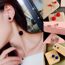 Artificial Hair Ball Long Tassel Dangle Earring For Women Pompom Girl Party Gifts Jewelry Accessories
