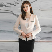 Корейская версия деловой костюм женский Чунь ся новый стиль темперамент интервью прием платье куртка комбинезон
