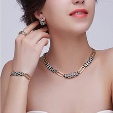 Liffly Women Dubai Jewelry Sets Luxury Bridal Nigerian Wedding African Beads Jewelry Set Costume New Design(China)
