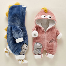 Hooded Romper Outfits Jumpsuit Winter Clothes Long-Sleeve Fleece Newborn Infant Baby-Boys-Girls