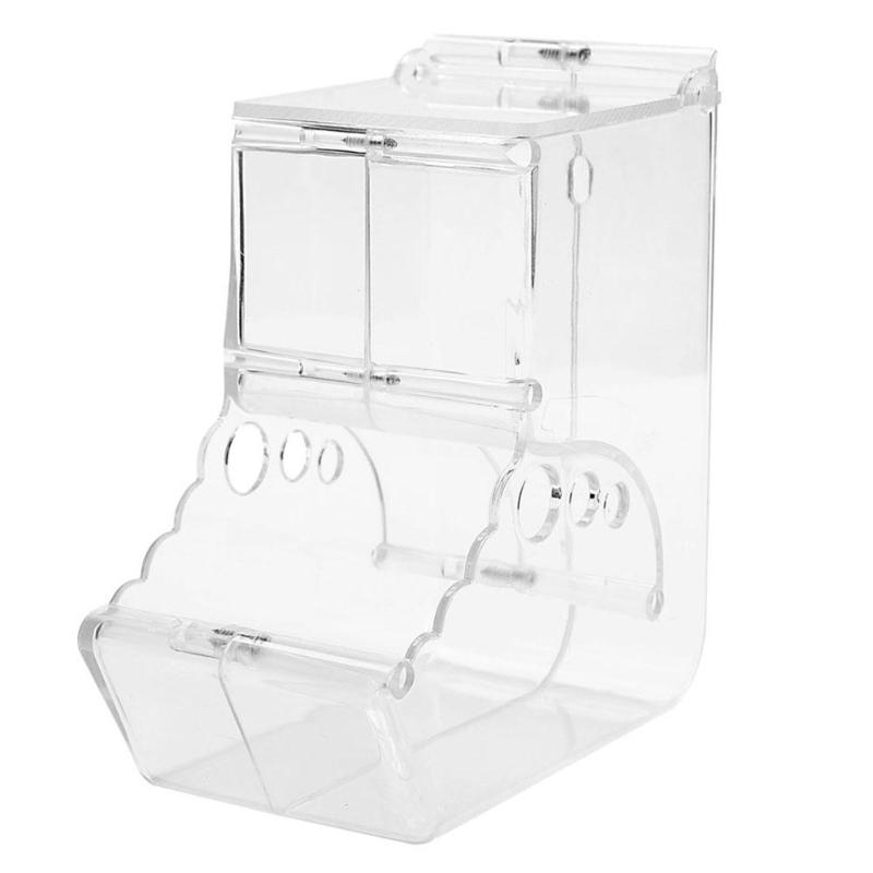 New-Hamster Rabbit Food Dispenser Feeder Plastic Clear Automatic Pet Feeder For Hamster Guinea Pigs Food Bowl Container B
