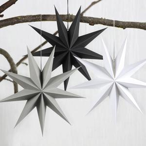 1pc Christmas Decoration 60cm 24'' Xmas Hanging Paper Star Lantern Christmas Ornaments Festival New Year Decoration For Home