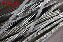 10pcs Free Shipping 1Mod 15x15x1000mm 1 M spur Gear rack right teeth Gear rack Precision cnc rack (straight teeth) Toothed rack 0 5m 27t aluminum alloy precision spur gear hole d 3mm