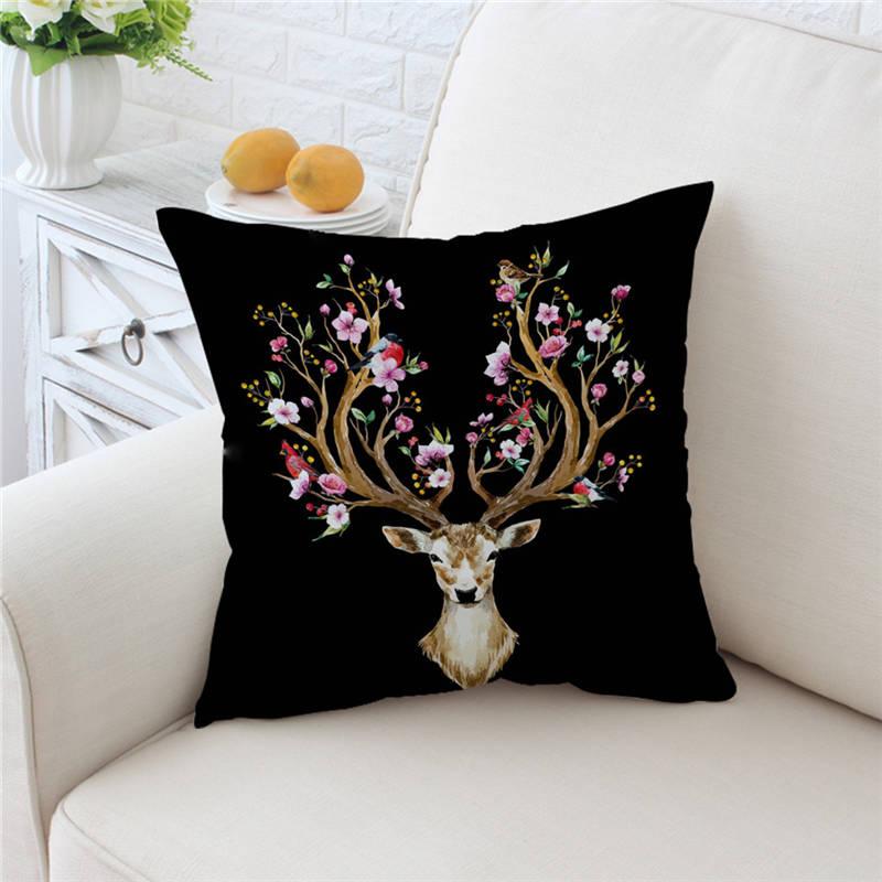 US Vendeur-Decorative Pillow Covers printemps été fleur Artwork Housse de coussin