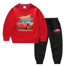 Pants Sweater Pullover Sport-Suit Cars Mcqueen Girls Boys Disney Long-Sleeved Cartoon