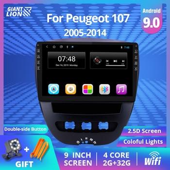цена на 2DIN Android 9.0 Car Multimedia Video Player For Peugeot 107 Toyota Aygo Citroen C1 2005-2014 Car Radio Stereo GPS Navigation BT