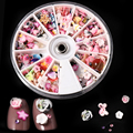1200Pcs Mixed Stil 3D Polymer Clay Tiny Blume Obst Herz Scheiben Ongles Rad Nail art DIY Designs Rad Nagel kunst Dekorationen