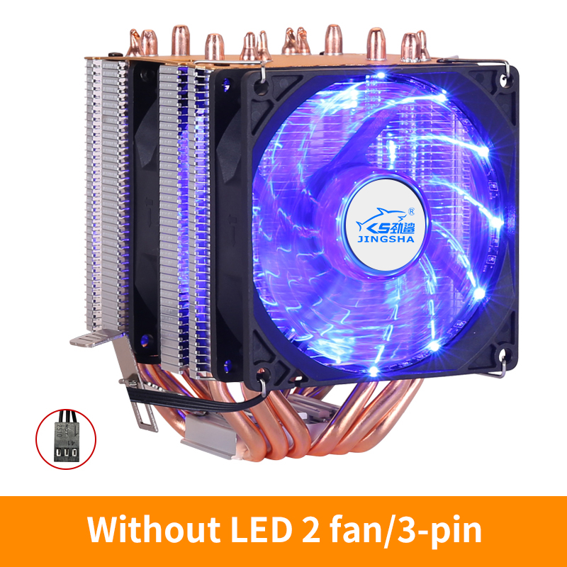 6 Heat Pipes dual-tower CPU Cooler RGB PWM 4Pin PC quiet for Intel LGA 775 1150 1151 1155 1366 AMD AM2 AM3 AM4 CPU Cooling Fan image