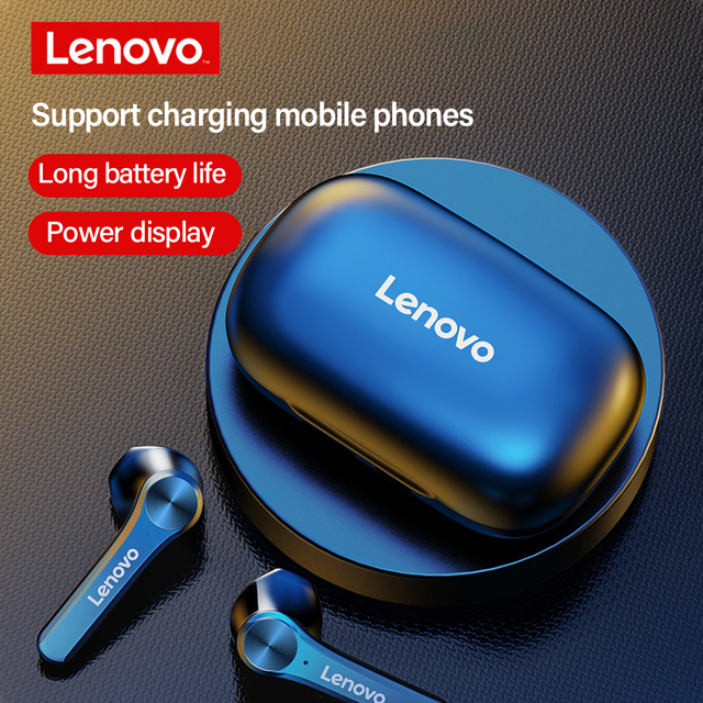 Lenovo QT81 Wireless Headphones TWS True Bluetooth Earphone Touch Control LED Display Big Battery 1200mAh Charging box