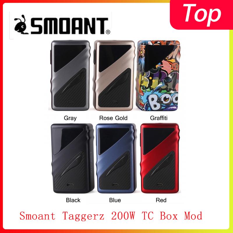 Clearence! Smoant Taggerz 200W TC Box Mod Powered By Dual 18650 Batteries With 0.96 Inch OLED Screen Vape Kit