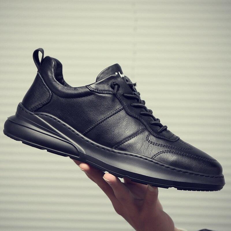 Мужская повседневная спортивная обувь, осенние кожаные новые кроссовки, мужская спортивная обувь, повседневная обувь, корейские беговые кроссовки, ZM 106 Беговая обувь      АлиЭкспресс