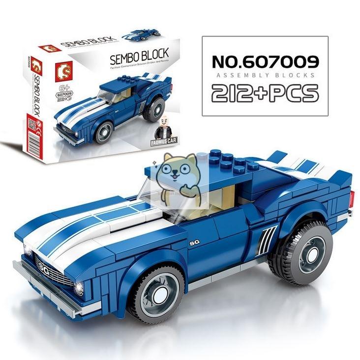 Детские сборные игрушки знаменитый автомобиль супер бегущий гоночный маленькие частицы Волшебные блоки для сборки конструктор-головоломка - Цвет: 009