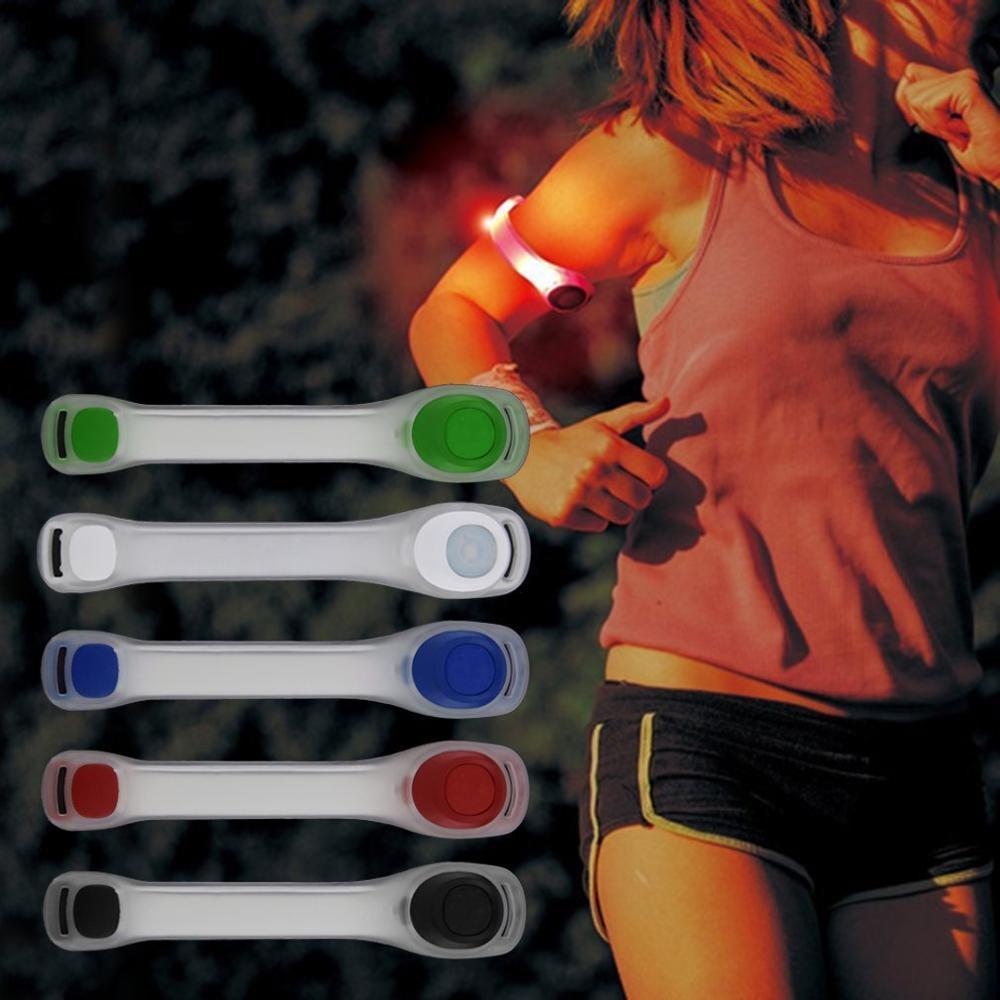 Новинка 2020, 1 шт., светоотражающий ремень безопасности, ремешок для ночной езды на велосипеде, светодиодный нарукавный светильник для бега, в...