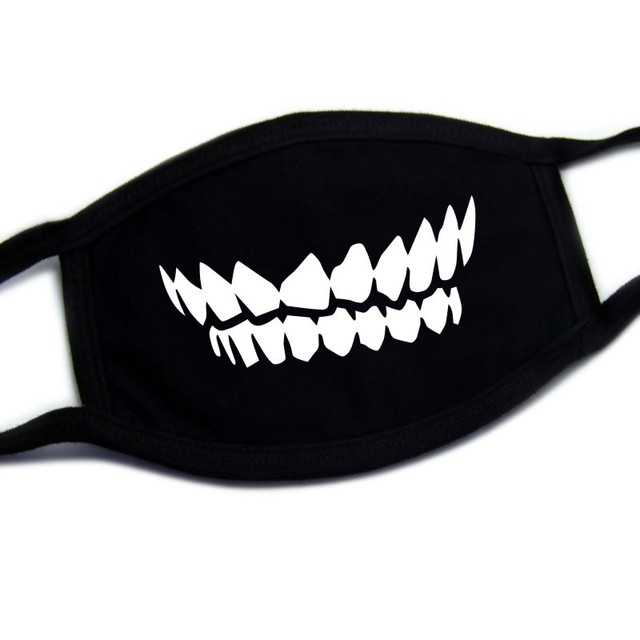 20 Types New Washable Cute Teeth Cartoon Pattern Face Mouth Mask Cotton Adult Kids Anti Dust Respirator Windproof Mascarillas 5