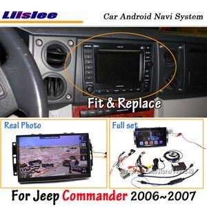 Liislee Android 8,0 для Jeep Commander 2006 ~ 2007 стерео радио Carplay экран видео GPS навигация Мультимедиа без dvd-плеера