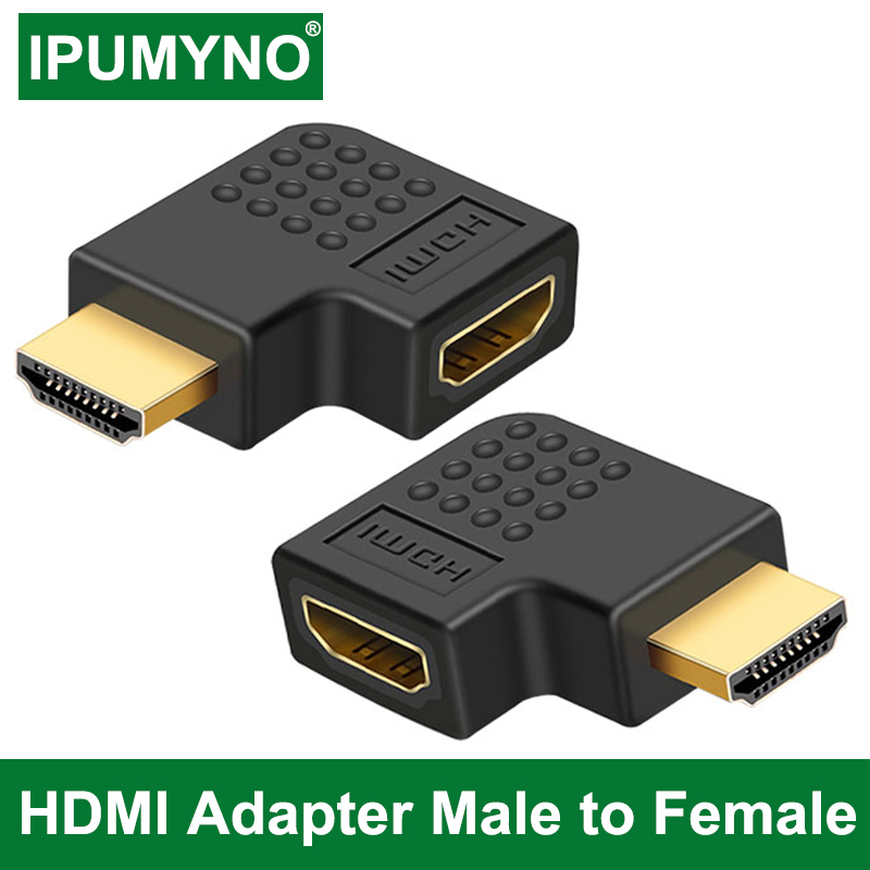 HDMI Adapter Male To Female 90 270 Degree Right Left Converter HDMI Adaptador For PS4 Projetor HDTV Laptop Monitor PC Converter