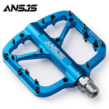 ANSJS Mountain Bike Pedals Platform Bicycle Flat Alloy Pedals 9/16