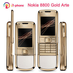 NOKIA 8800 Gold Arte Original 4GB GSM 3mp Refurbished Cellphone Version Unlocked