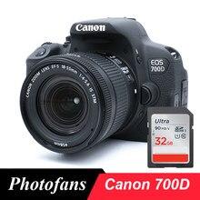 Aparat cyfrowy Canon 700D / Rebel T5i DSLR z obiektywem 18-55mm-18 MP-ekran dotykowy Full HD 1080p z ekranem dotykowym (nowy)