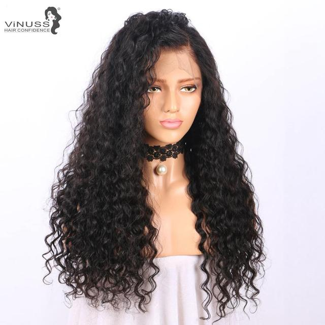 Vinuss Full Lace Human Hair Wigs water wave For Black Women Lace Front Wigs Brazilian Remy Pre Plucked Bleached Knots 2
