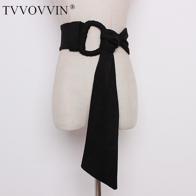 TVVOVVIN Women Wide Belt All Match Cummerbunds Retro Wide Bandage Belt Solid Women Belts Wide Black Red Waistband 2019 X390