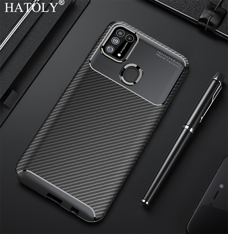 Case For Samsung Galaxy M31 Cover Ultra-thin Soft TPU Silicone Carbon Fiber Back Cover For Samsung Galaxy M31 M 31 M315F/DS Case