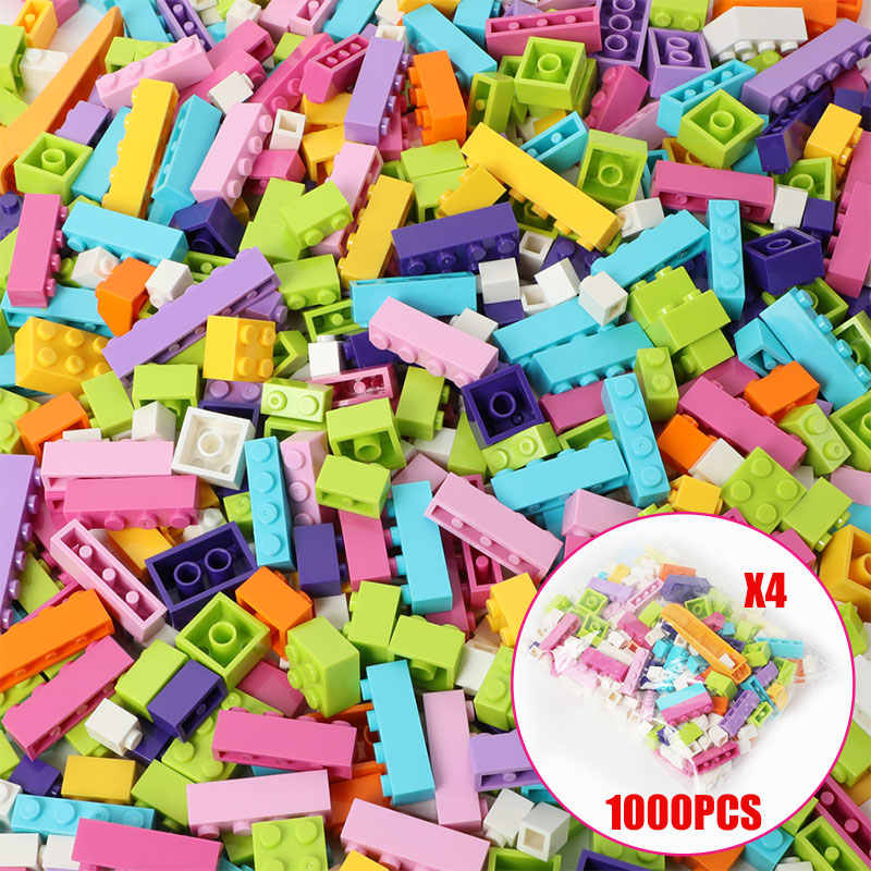 250-1000 stück DIY Bausteine City Kreative Technic Creator Ziegel Groß Modell Figuren Kinder Spielzeug Kompatibel Alle Marken