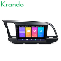 Krando 2+32 Android 9.0 9 IPS Full touch car multimedia system for HYUNDAI ELANTRA 2016 radio navigtaion player GPS No 2din DVD