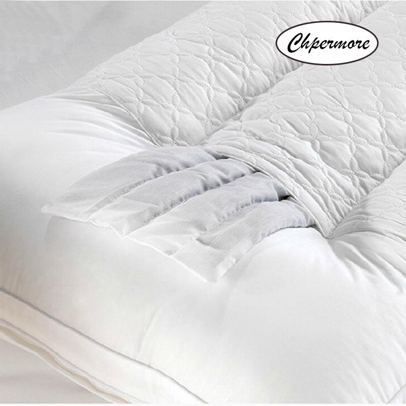 Chpermore قرفة طويلة وسادة العظام وسادات للعنق 1.2/1.5/1.8m إطالة مزدوجة النوم غطاء وسادة القطن الصحية-في وسائد النوم من المنزل والحديقة على  مجموعة 2