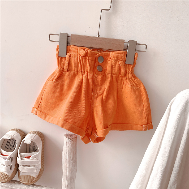 2020 Girl Summer  Kids Children Fashion Hot Jeans Denim Shorts Three Colors 8