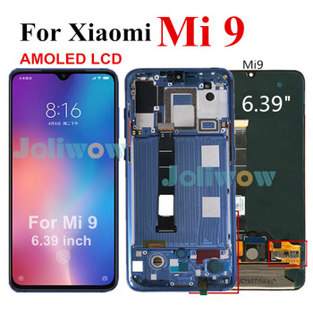 "6.39"" AMOLED Original LCD For Xiaomi Mi 9 Mi9 LCD Display Digitizer Assembly Touch Screen With Frame for Xiaomi 9 LCD M1902F1G"