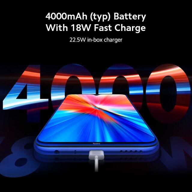 Global Version Xiaomi Redmi Note 8 2021 4GB RAM 64GB ROM Smartphone Octa Core Quick Charging 4000mAh 48MP Camera RedMi Note8 3