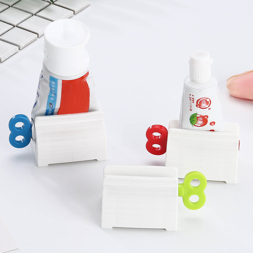 Home Hogar ForToothpaste Bathroom Accessories Convenient Creative Toothpaste Rolling Tube Toothpaste Squeezer Stand Holder #37(China)