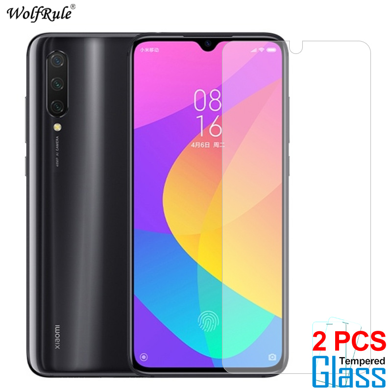 2Pcs Protective Glass For Xiaomi Mi 9 Lite Screen Protector Tempered Glass For Xiaomi Mi 9 Lite Glass Mi CC9 Phone Film 6.39''