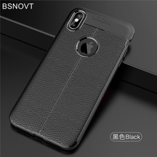 For iPhone XS Max Case Soft Silicone Leather Shockproof Apple IPhone Cover Funda 6.5 BSNOVT
