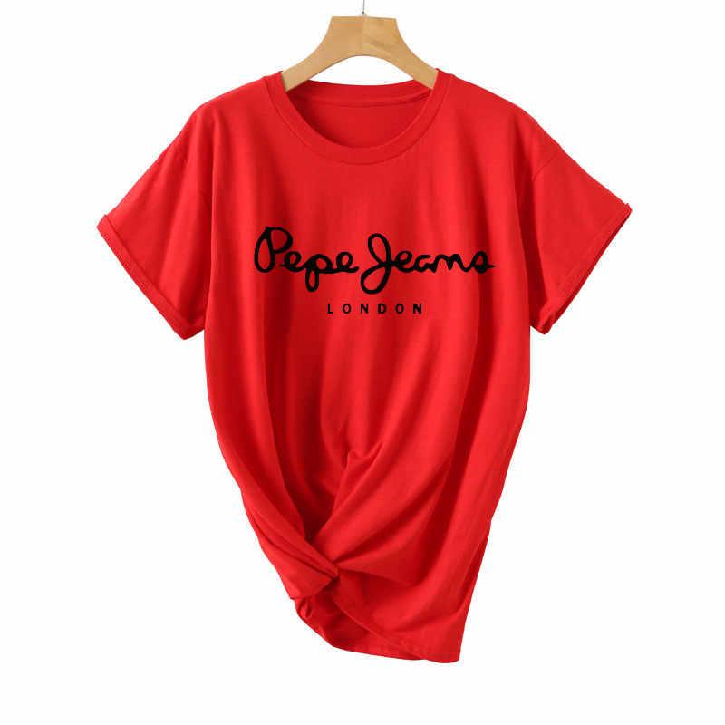 2019 женские футболки, футболка с буквенным принтом, повседневные белые, черные, розовые хлопковые топы с короткими рукавами, летняя брендовая одежда