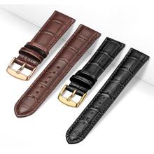 Uniwersalny pasek skórzany do zegarków skórzany pasek do zegarków dla kobiet mężczyzn 12mm 14mm 16mm 18mm 19mm 20mm 21mm pasek do zegarka 22mm tanie tanio 20 cm Skóra Nowy z metkami Cow leather watch band buckle