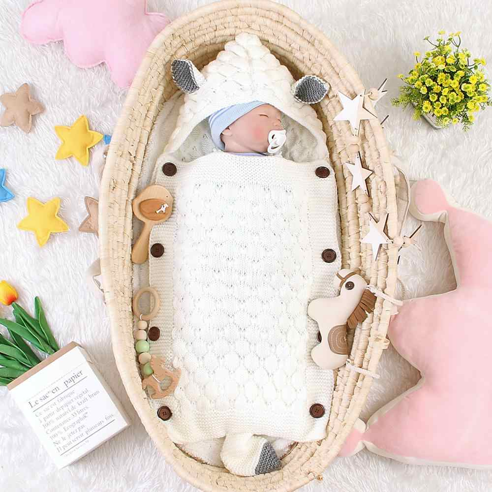 Sobres de dibujos animados de zorro para cochecito para Recién Nacido sacos de dormir otoño tejido envoltura para bebé Infantil sacos de dormir saco de descarga de bebé capullo