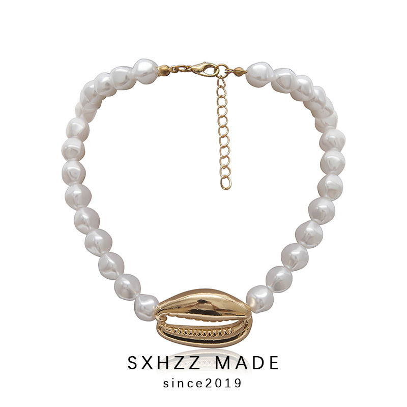 SXHZZ New Temperament Special Pearl Necklace for Women Female Girl High Quality White Pearl Jewelry Gift Simple Style All Match in Necklaces from Jewelry Accessories