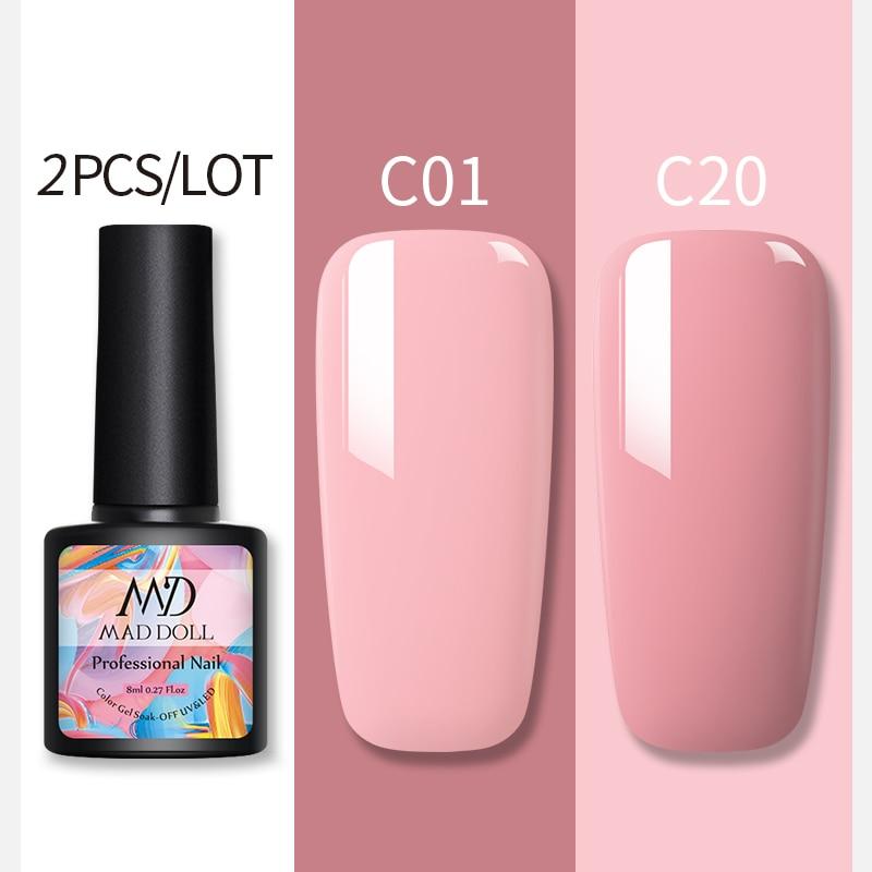 2pcs NAIL Gel Nail Polish Gel Varnish Paint Semi Permanent Nails Art Gel Nail Polish For Manicure Gellak Top Coat Hybrid Primer