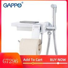 Grifos de bidé GAPPO, pulverizador de ducha de bidé, ducha higiénica, tapón anal, grifos de agua, soporte de papel para baño, soportes de estante G7296