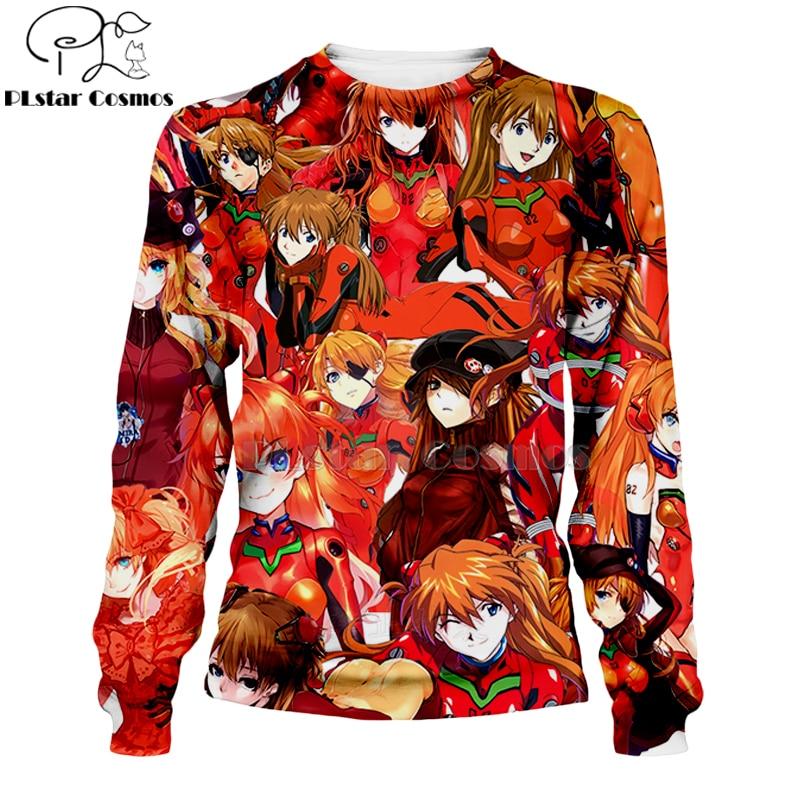 PLstar Cosmos Ahegao Kawaii Asuka Langley Soryu Comic 3d hoodies shirt sweatshirt Hipster Anime Unisex Face Tops Pullovers 21 in Hoodies amp Sweatshirts from Men 39 s Clothing